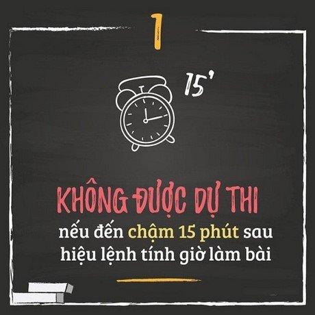 10 chu y thi sinh thi thpt quoc gia 2016 khong duoc mac phai