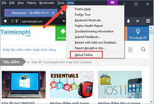 2 cách cập nhật Firefox 54 cho máy tính của bạn