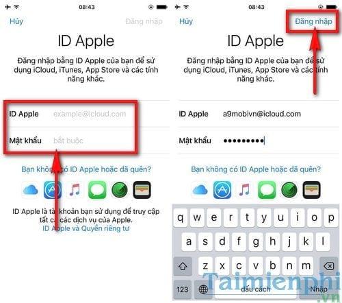 dang nhap id apple 2