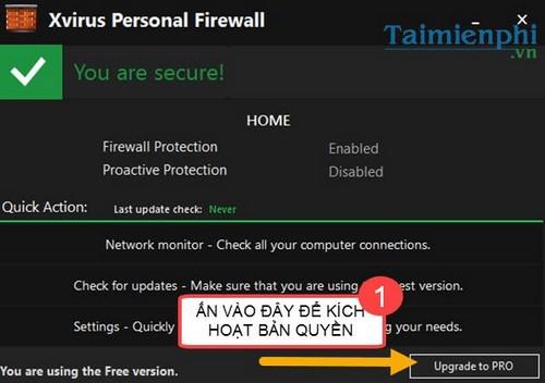 giveawaway xvirus personal firewall pro mien phi