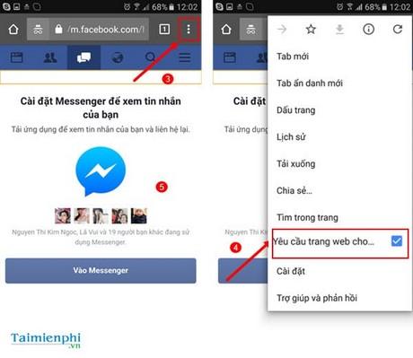Cách chat Facebook trên Android không cần ứng dụng Messenger