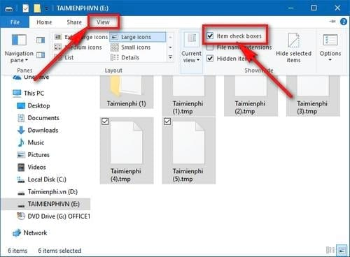 an hien bo o tich box thu muc tren windows 10 creators update 2