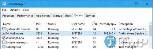 Antimalware Service Executable là gì? Tại sao process này lại chạy trên máy tính Windows? 1