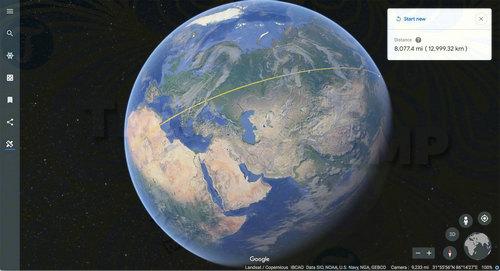 ban cap nhat google earth cho phep do khoang cach giua 2 vi tri 2