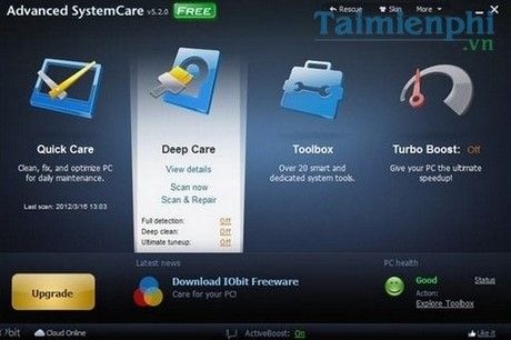 advanced systemcare free bao ve may tinh chuyen nghiep