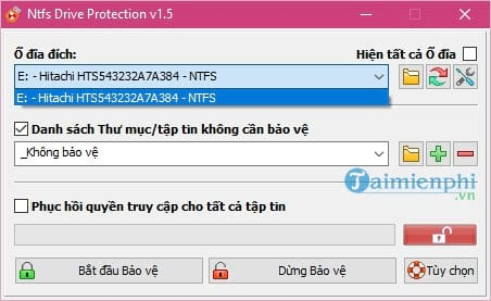 bao ve usb khoi virus voi ntfs drive protection 2