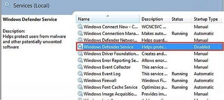Cách bật/tắt Windows Defender win 8 8.1 2
