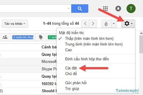 bat tinh nang xem truoc thu den tren gmail tinh nang preview pane 2