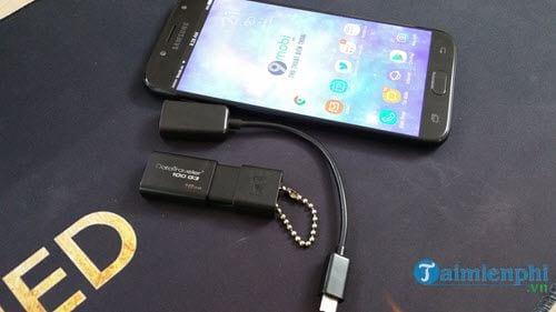 Các bước kết nối USB với điện thoại Android qua cổng OTG 1