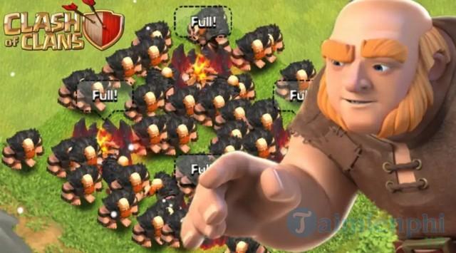 cac loai quan trong clash of clan 2