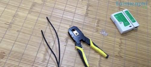 Cách bấm dây mạng 4 sợi chuẩn, bấm dây cáp kết nối chuẩn