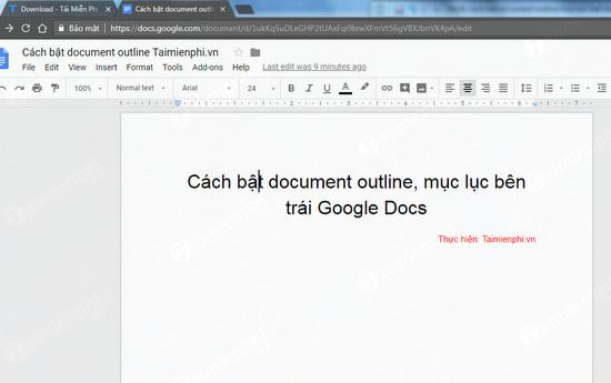 cach bat document outline muc luc ben trai google docs 2