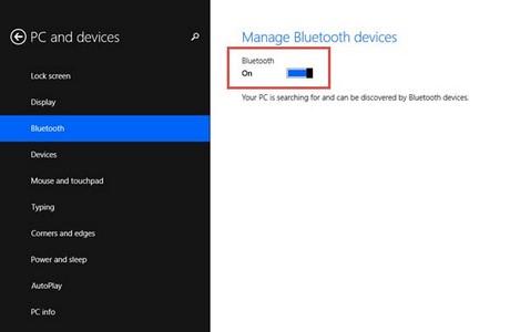 Cách cài Bluetooth trên laptop windows 8 1