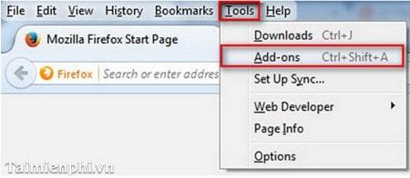 Firefox - Cách cài đặt phần mở rộng (Extensions)