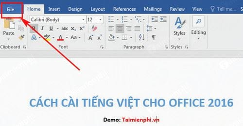 cach cai tieng viet cho office 2016 2