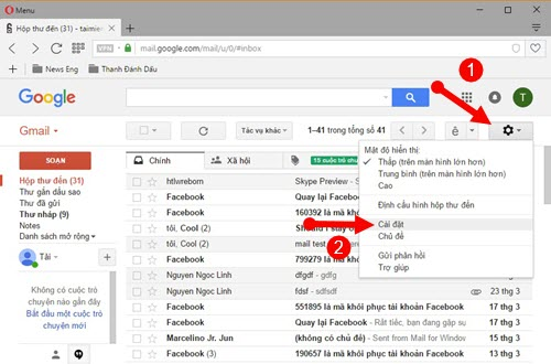 cach cau hinh dich vu gmail trong outlook 2016 2013 2010 2007 2003 2