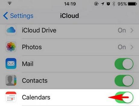 chan thu spam calendar tren iphone