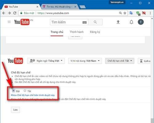 cach chan video khong lanh manh tren youtube 2