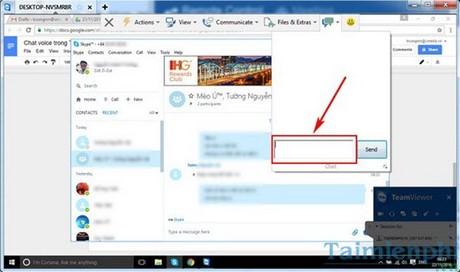 Cách chat trong Teamviewer, trò chuyện qua Teamviewer