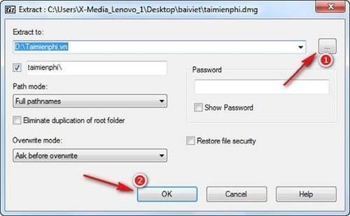 mo file DMG tren Windows