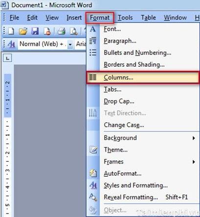 Word - Cách chia cột, tạo Dropcap trong văn bản Word 1