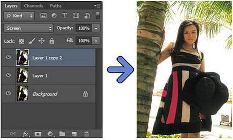 Cách chỉnh sửa ngược sáng bằng Photoshop