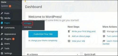 cach chinh sua page chinh sua trang trong wordpress 2