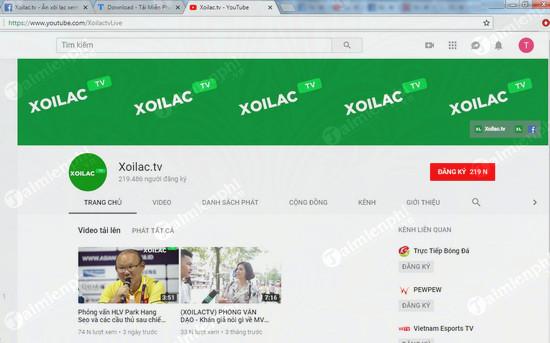 cach chinh xem full hd 720p 1080p youtube kenh xoilac tv 2