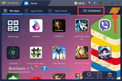cach choi dc unchained tren may tinh bang bluestacks 2
