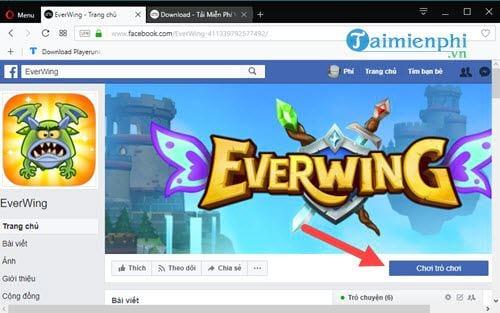 cach choi game ban may bay tren messenger game everwing 2