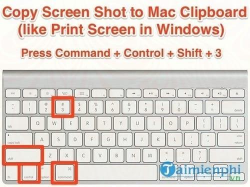 Cách chụp ảnh màn hình Macbook 1