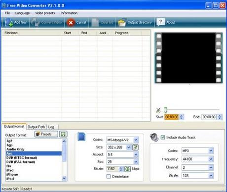 chuyen doi video bang Free Video Converter