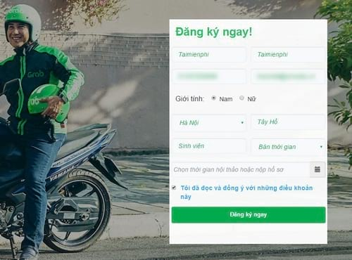 cach dang ky grabbike lai xe om cho sinh vien 2