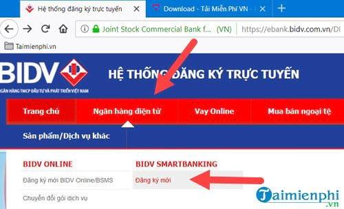 cach dang ky internet banking bidv 2