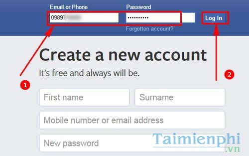 cach dang nhap facebook bang so dien thoai 2