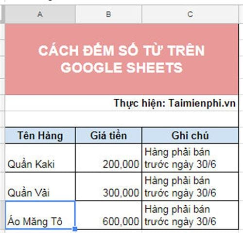 cach dem so tu tren google sheets 2