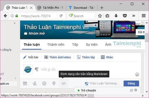 cach dinh dang bai viet tren facebook workplace bang markdown 2