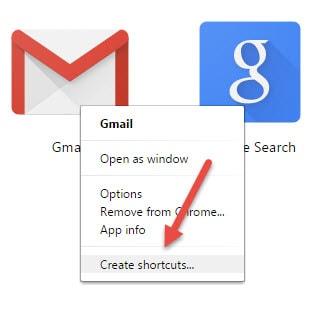dua bieu tuong gmail ra man hinh chinh