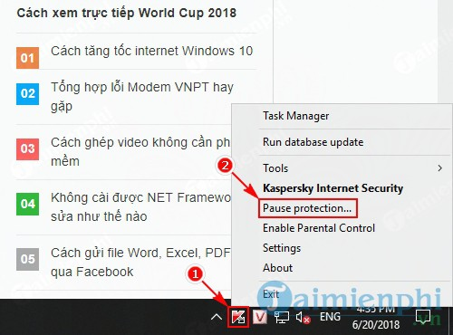 cach dung tat kaspersky che do pause protection 2