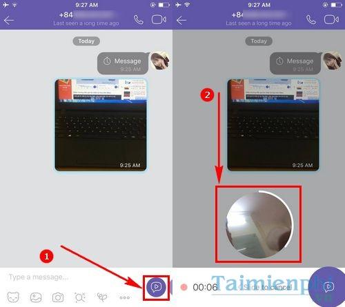 cach gui tin nhan video tren viber video message 2