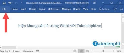 cach hien khung can le trong word 2