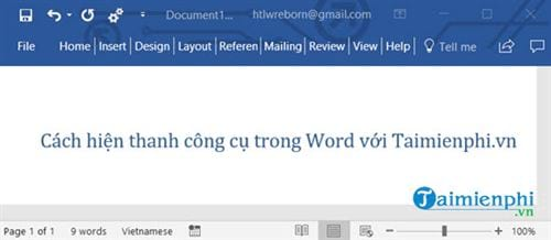 cach hien thanh cong cu trong word 2