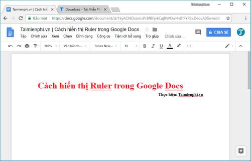 cach hien thi ruler trong google docs 2