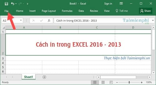 cach in file excel in bang chuan excel 2016 2013 2010 2007 2003 2