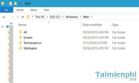 Xem hình nền win 10, folder chứa ảnh nền mặc định trong windows 10 1