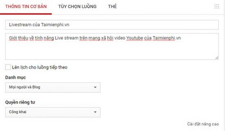 live stream video tren youtube