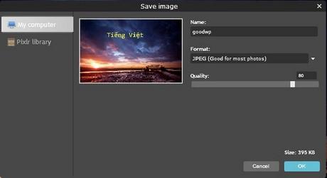 Cách lưu ảnh trên Photoshop online