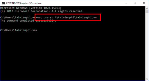 cach map network drive bang command prompt tren windows 2