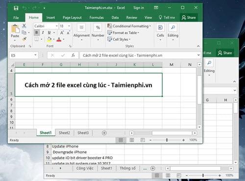 Cách mở 2 file Excel cùng lúc, Open nhiều file trên Excel 2003, 2007, 2010, 2013, 2016 1