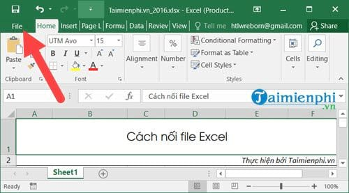 cach noi file excel 2